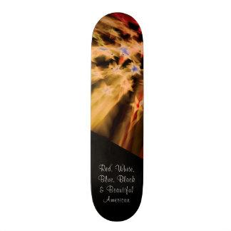 Black American Pride Skateboard Deck