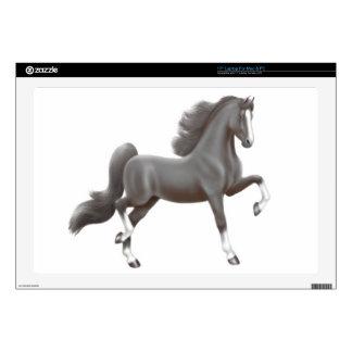 Black American Saddlebred Horse Laptop Skin