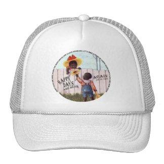 Black Americana Obama Happy Days are Here Again Mesh Hats