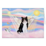 Black & White Cat - Clouds Greeting Cards