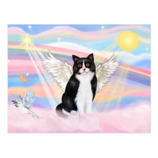 Black & White Cat - Clouds Post Cards