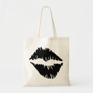 Black an Gold Bride squad kiss Goth Tote Bag