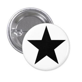 Black Anarchy estrella (clásico) Pin Redondo De 1 Pulgada