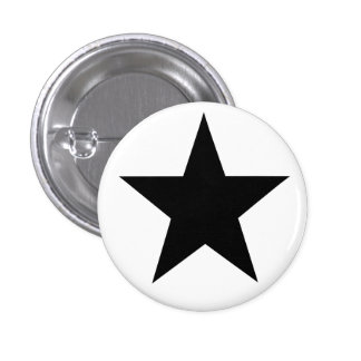 Black Anarchy star classical Pinback Buttons