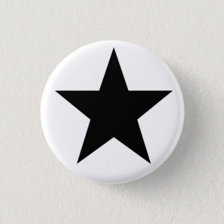 Black Anarchy star (classical) Pinback Button