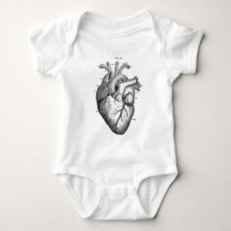 Black Anatomical Heart Baby Bodysuit