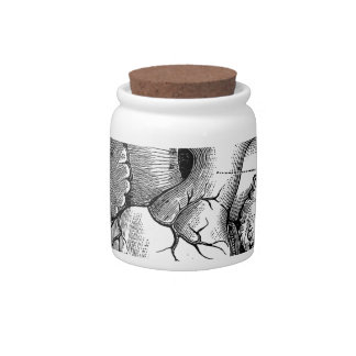 Black Anatomical Heart Candy Jars