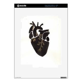 Black Anatomical Heart Skin For iPad 2