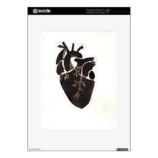 Black Anatomical Heart Skins For iPad