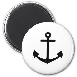 Black Anchor Fridge Magnet