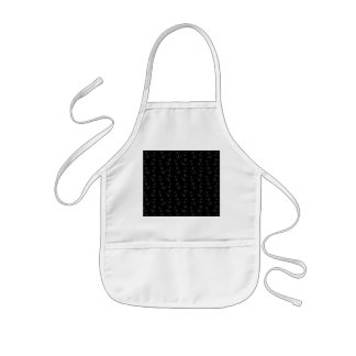 Black anchor pattern kids' apron