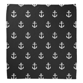 Black anchor pattern bandana