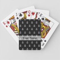 Black anchor pattern playing cards