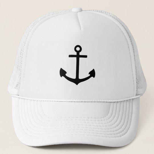 Black Anchor Trucker Hat