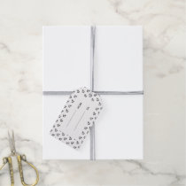 Black Anchors White Background Pattern Gift Tags