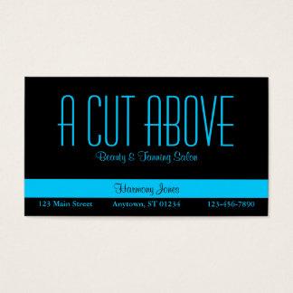 Black and Aqua Blue Business Card