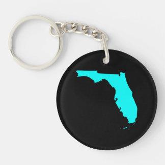 Black and Aqua Florida Keychain
