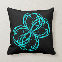Black and Aqua Scrollwork