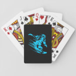 Black and Aqua Snowboarder Silhouette Card Deck