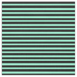 [ Thumbnail: Black and Aquamarine Striped/Lined Pattern Fabric ]