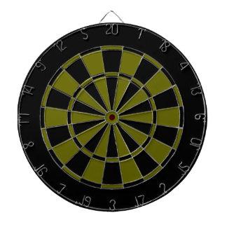 black and army green dart board