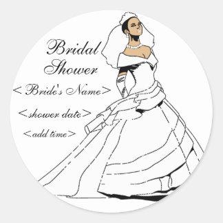 Black and Beautiful Classic Round Sticker