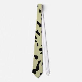 Black and beige design tie