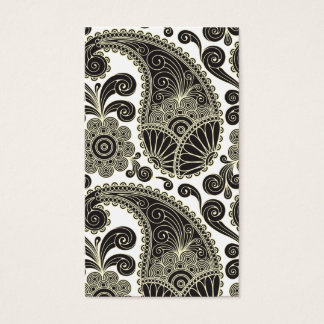 Black and beige paisley business card