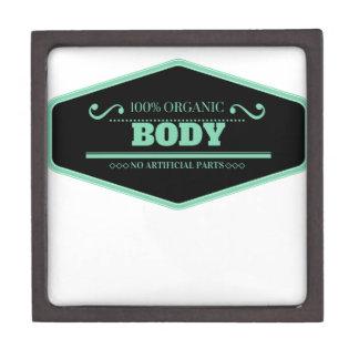 Black and blue 100% organic body keepsake box