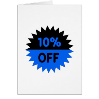 Black and Blue 10 Percent Off Card