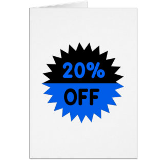 Black and Blue 20 Percent Off Card