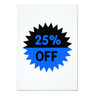 Black and Blue 25 Percent Off Personalized Invitations