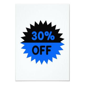 Black and Blue 30 Percent Off Invitation