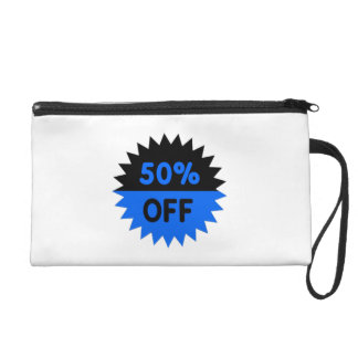 Black and Blue 50 Percent Off Wristlet