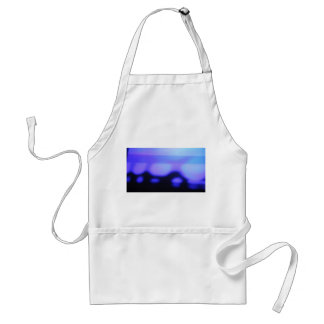 black and blue abstract apron