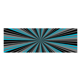 Black and Blue Abstract Starburst Bookmark Mini Business Card