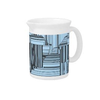 Black and Blue Art Deco Design
