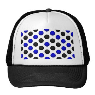 Black and Blue Basketball Pattern Trucker Hat