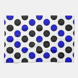 Black and Blue Basketball Pattern Kitchen Towel