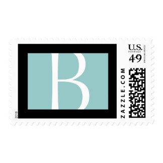 BLACK AND BLUE BOX POSTAGE STAMPS