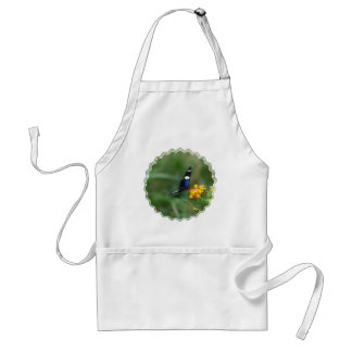 Black and Blue Butterfly Apron