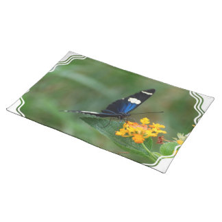 Black and Blue Butterfly Placemats
