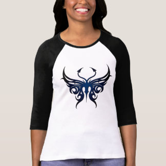 Black and blue butterfly tee! tee shirt