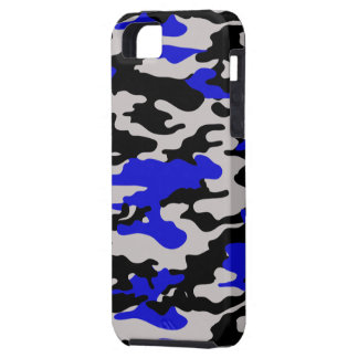 Black and Blue Camo iPhone 5 Case
