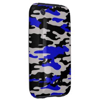 Black and Blue Camo  iPhone 3 Case-Mate Tough