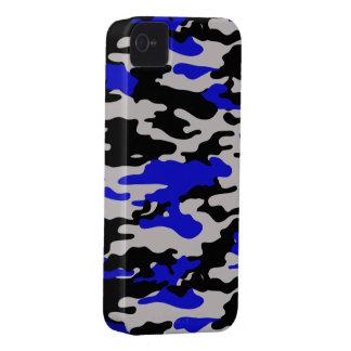 Black and Blue Camo - iPhone 4 Case-Mate Case -