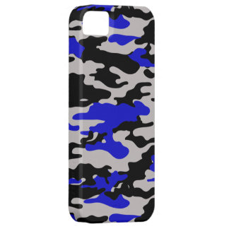 Black and Blue Camo - iPhone 5 iPhone SE/5/5s Case