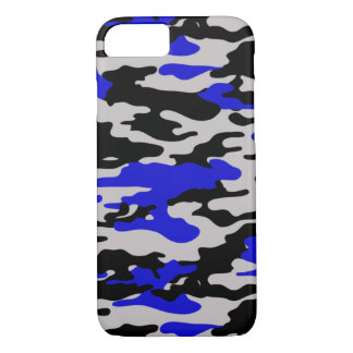 Black and Blue Camo - iPhone 7 case