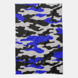 Black and Blue Camo Kitchen Towels