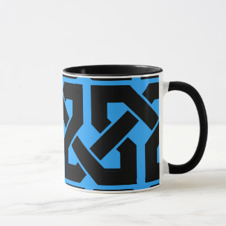 Black and Blue Chain Intertwined Pattern Mug